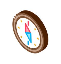 Navigational compass tool isometric icon vector