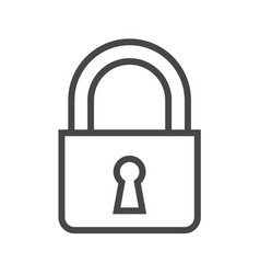 Padlock thin line icon vector