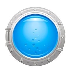 Porthole icon with silver metalic porthole and vector