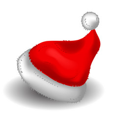 realistic christmas santa claus red hat vector image