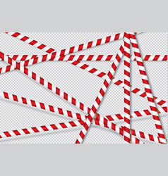 red and white lines of barrier tape vector image