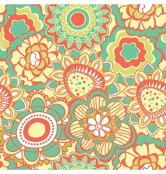 Retro flower pattern vector