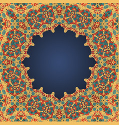 Round frame for text in arab style a lot of vector