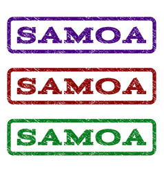 Samoa watermark stamp vector