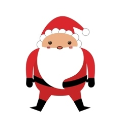 Santa claus xmas cartoon vector