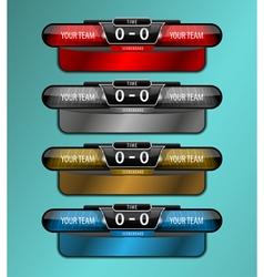 scoreboard sport object vector image
