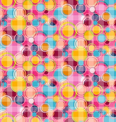Seamless Abstract Bubbles Circle Pattern - vector image vector image