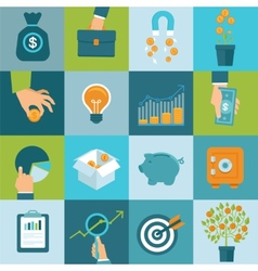 set business concepts in flat style vector image