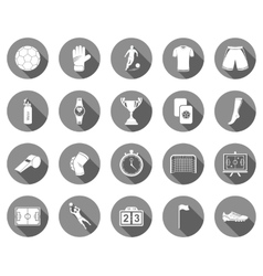 set of flat icons football vector image