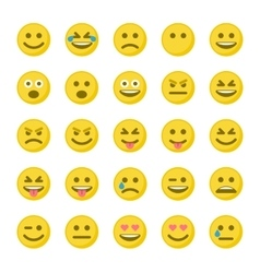 Set of yellow smileys vector