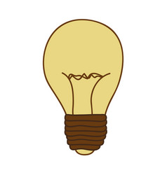 Silhouette of light bulb in beige color vector