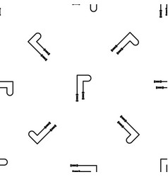 skipping rope pattern seamless black vector image vector image