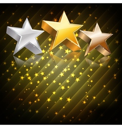 stars on abstract dark background vector image