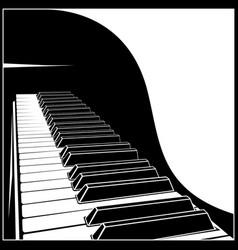 Stylized piano keyboard vector
