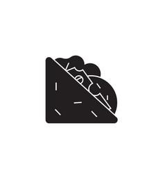 Tasty sandich black concept icon tasty vector