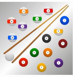 The theme billiards vector