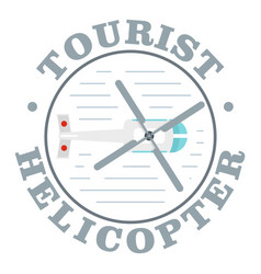 Tourist helicopter icon flat style vector