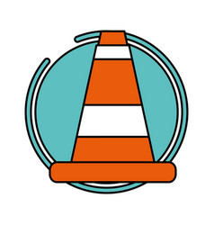 traffic construction cone vector image
