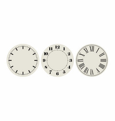 Universal set 1 classic dials for wall height vector