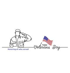 veterans day minimalist banner poster vector image