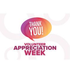 volunteer appreciation week holiday concept vector image