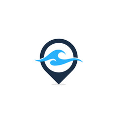 wave point logo icon design vector image
