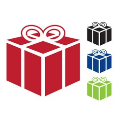 Web icon for gift vector