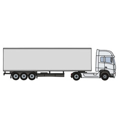 White long semitrailer vector