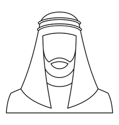 Arabic man icon outline style vector image