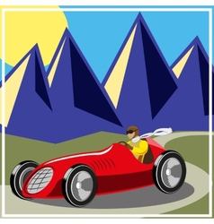 old fast race car vector image