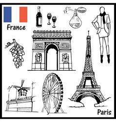 Paris France vector image vector image