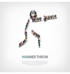 people sports hammer throw vector image vector image