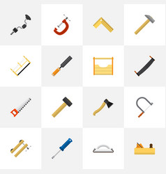 set of 16 editable apparatus icons includes vector image