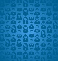 Social media user seamless pattern vector image vector image