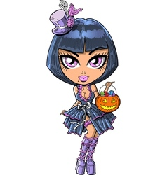 Trick Or Treat Goth Girl vector image vector image