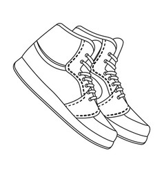 basketball shoesbasketball single icon in outline vector image
