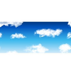 Blue seamless sky with clouds vector image