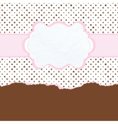 Brown and pink vintage card template EPS 8 vector image