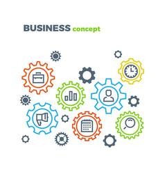 business integration mechanism marketing vector image
