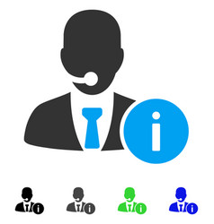 help desk manager flat icon vector image vector image