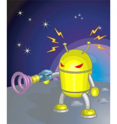 robot moon illustration vector image