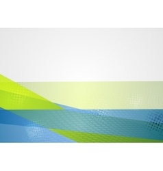 Abstract blue green tech background vector