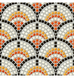 Antique mosaic seamless pattern vector image vector image