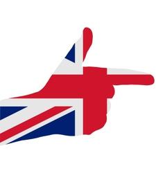 British finger signal vector image