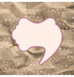 Brown and pink valentine vintage EPS 8 vector image
