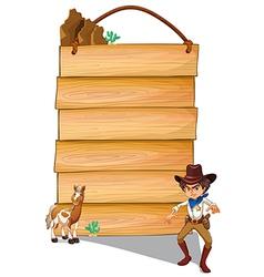 Cowboy Copyspace vector image