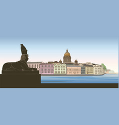 st petersburg city russia saint isaacs cathedral vector image vector image