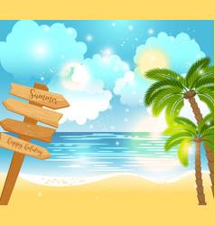 summer happy holiday landscape vector image vector image