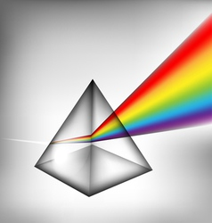 3d prism with light vector image vector image