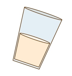 glass of milk icon image vector image